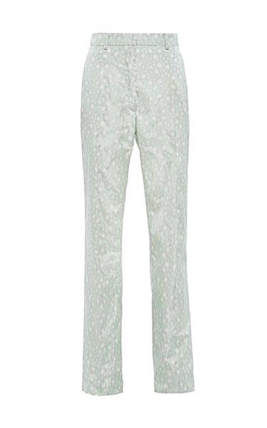Printed Silk Straight-Leg Pants