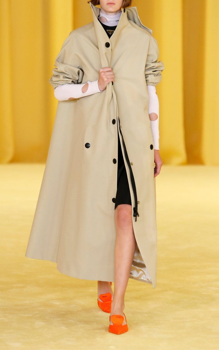 High Collared Trench Coat