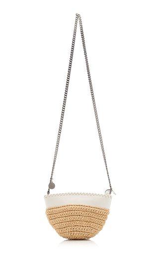 Half-Moon Small Raffia Shoulder Bag