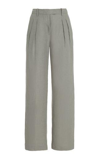 Bidong Pleated Linen Pants