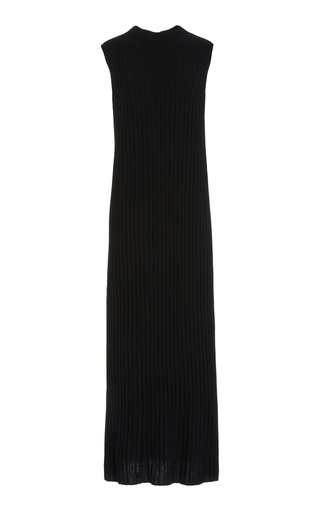Andrott Button-Detailed Ribbed Wool-Cashmere Maxi Dress