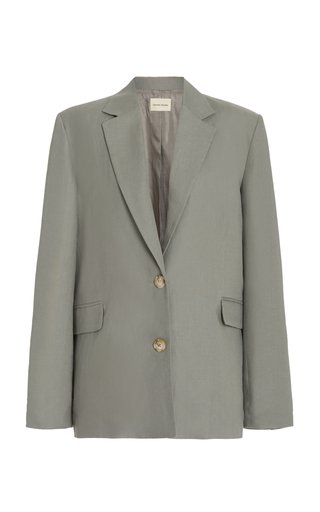 Bambo Structured Collared Linen Blazer