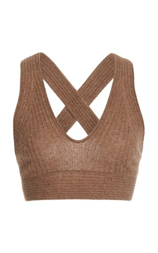 Tromelin Knitted Ribbed Cashmere Bralette