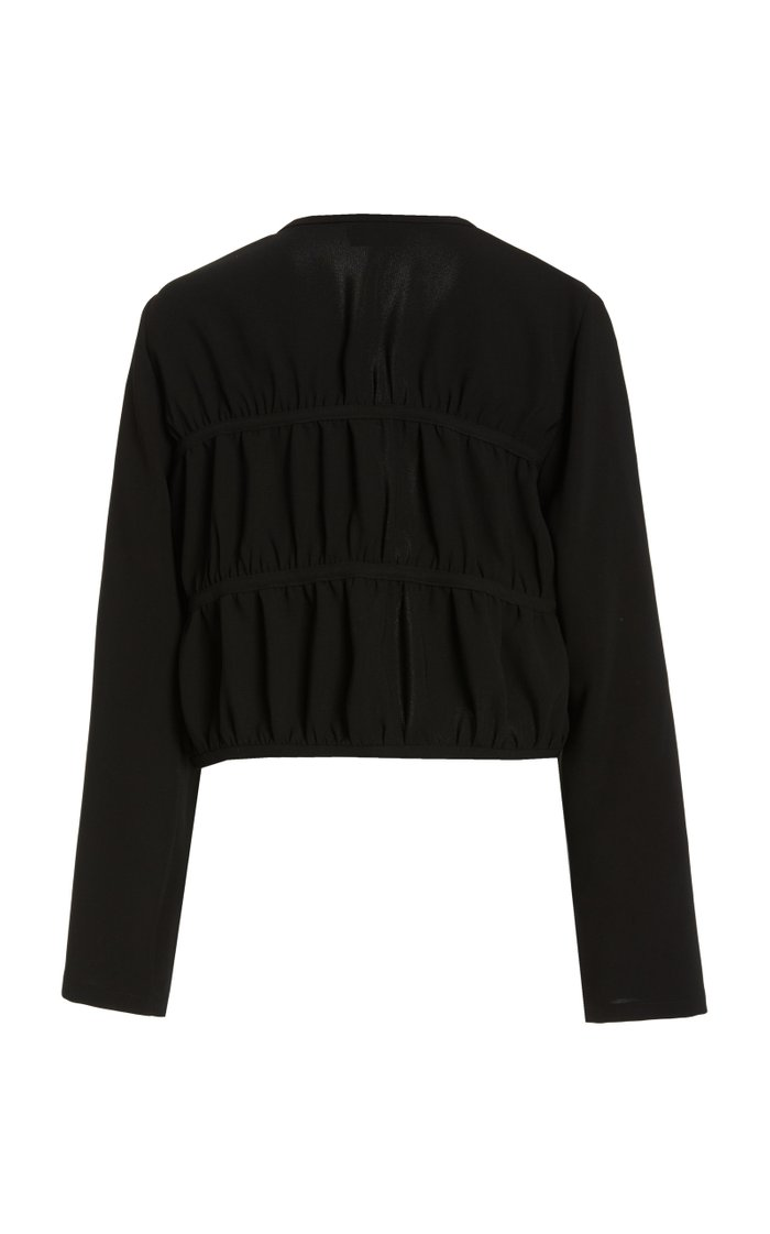 Mathilde Tie-Accented Crepe Top