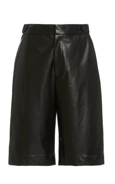 Simone Vegan Leather Shorts