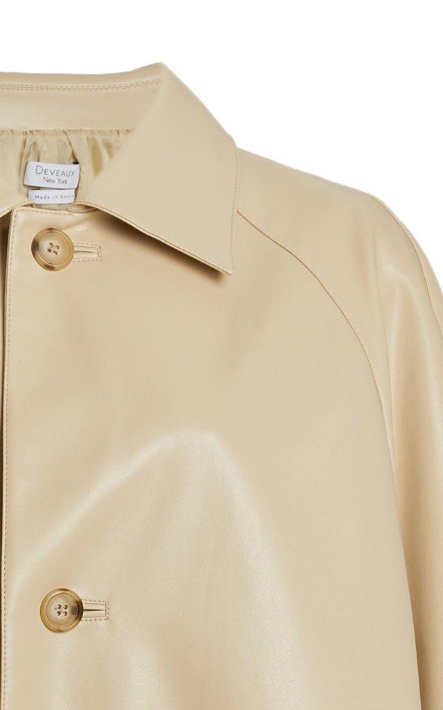 Charlie Vegan Leather Raglan Coat