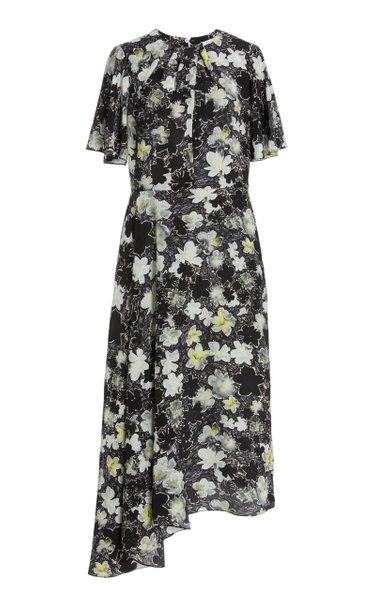 Joan Asymmetric Silk Dress