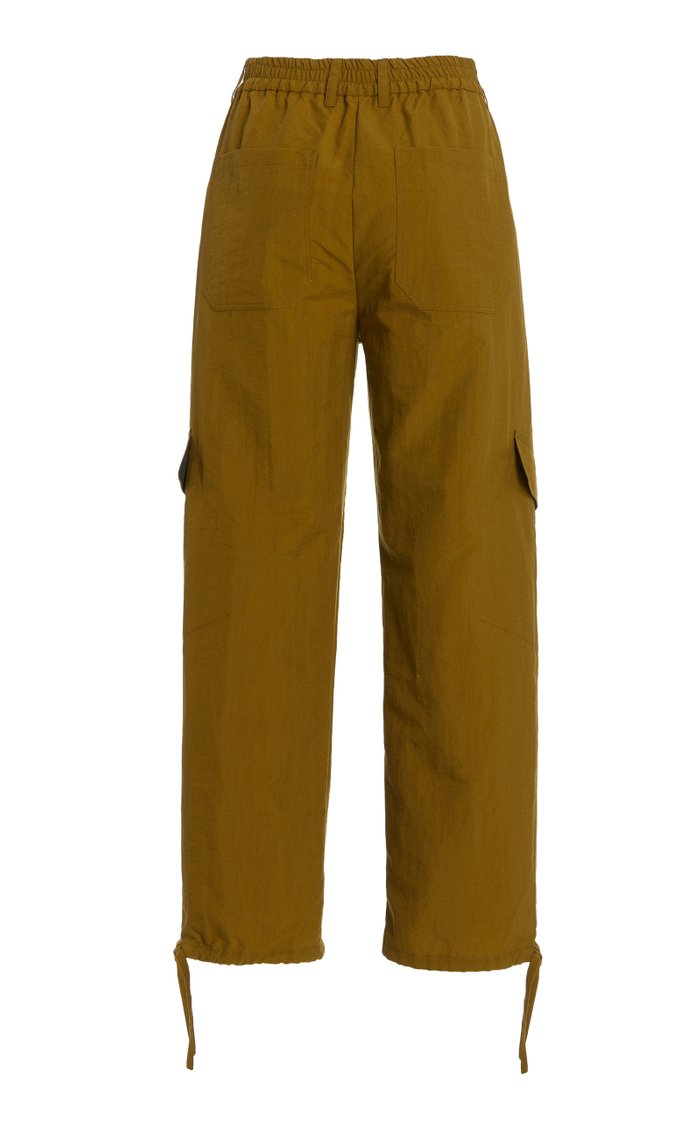 Viola Poplin Cropped Cargo Pants