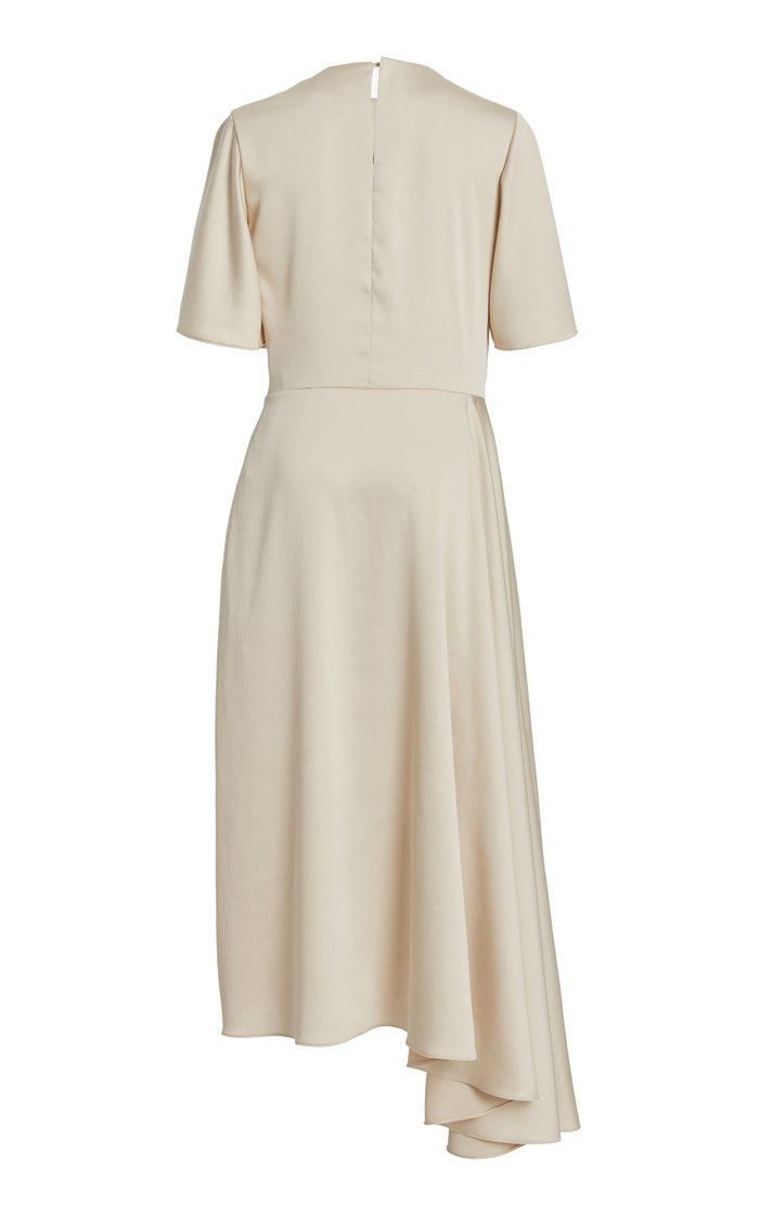 Joan Asymmetric Satin Dress