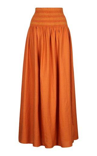 Proenza Handwoven Cotton Maxi Skirt