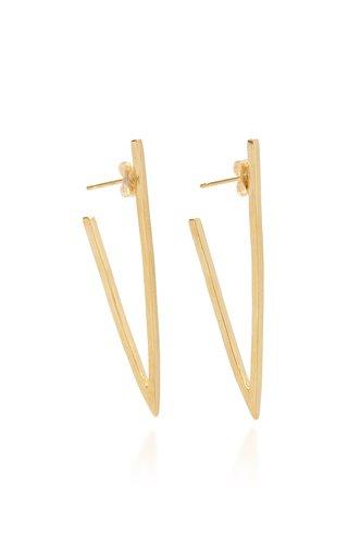 Large Triangle 18K Yellow Gold Hoop Earrings