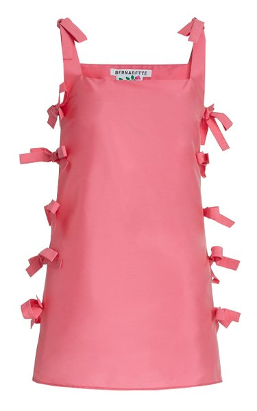 Lisa Tie-Detailed Taffeta Mini Dress