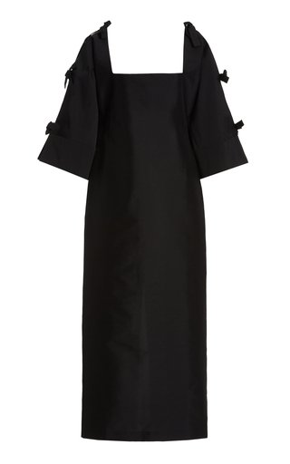 Chloe Tie-Detailed Taffeta Maxi Dress