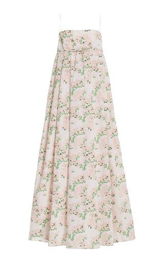 Jules Floral-Print Taffeta Maxi Dress