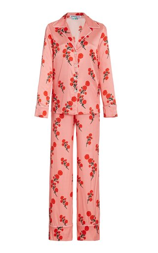 Floral Satin Pajama Set