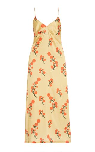 Jeanine Floral Silk Midi Slip Dress