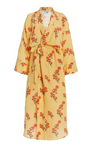 Peignoir Floral Silk Kimono
