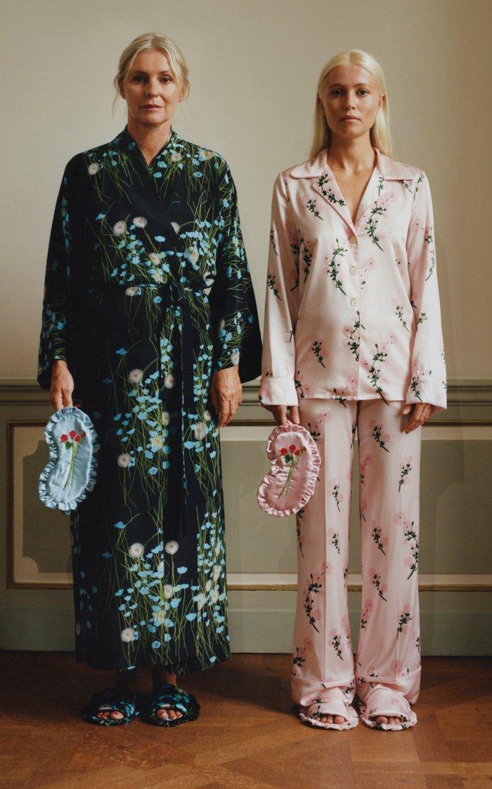 Stretch Silk Satin Pajama Set