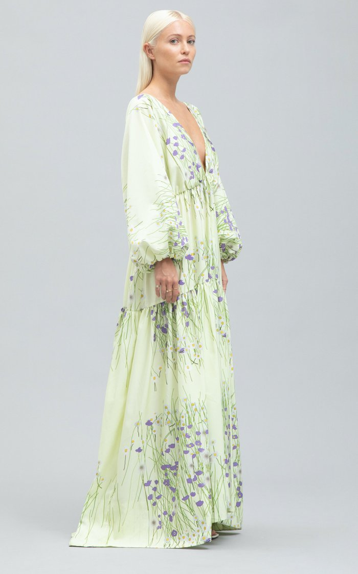 Millicent Taffeta Maxi Dress