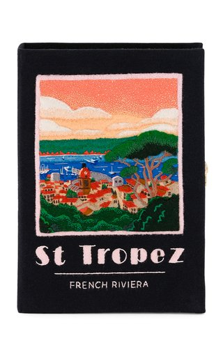 Small St. Tropez Embroidered Book Clutch