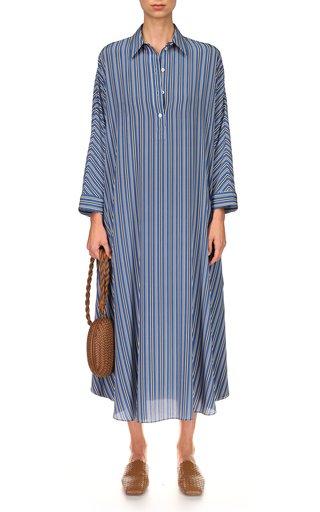 Striped Silk Caftan