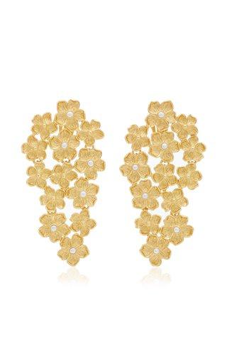 Phlox 24K Gold-Plated Pearl Earrings