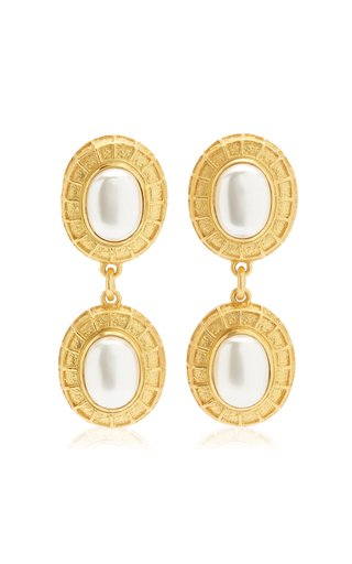 Willow Pearl 24K Gold-Plated Earrings