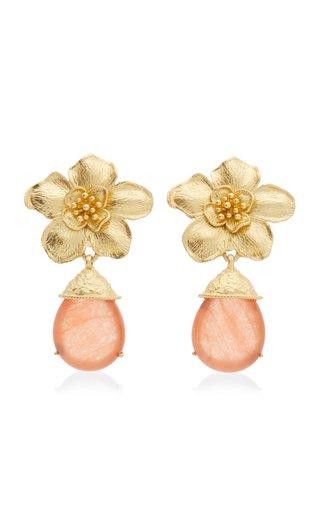 Cassia 24K Gold-Plated Jade Earrings