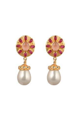 Heather 24K Gold-Plated Multi-Stone Earrings