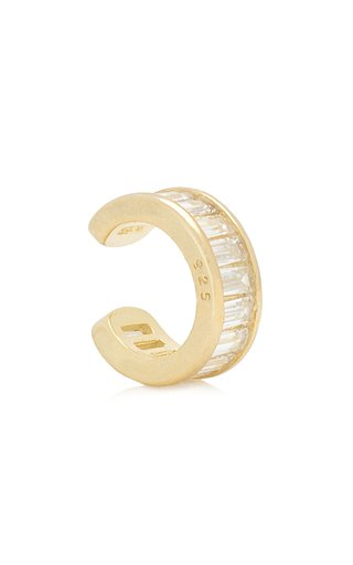 Track Crystal 18K Gold-Plated Ear Cuff