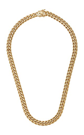 Ruth 18K Gold-Plated Curb Chain Necklace