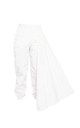 Boulton Draped Cotton Pants