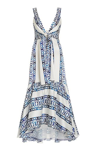 Catanzaro Tie-Accented Silk-Blend Dress