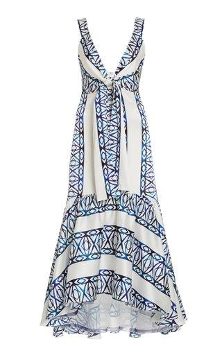 Catanzaro Tie-Accented Silk-Blend Dress