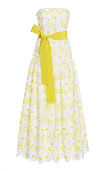 Breakers Floral-Embroidered Cotton-Blend Dress