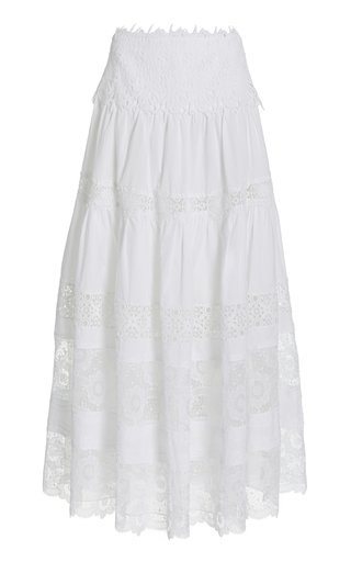 Clarke Embroidered Cotton Maxi Skirt