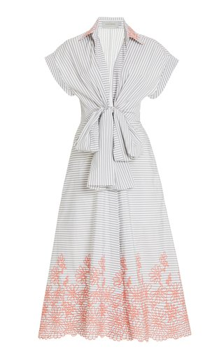 Rigone Embroidered Cotton Dress