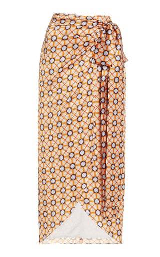 Bonna Printed Silk Skirt
