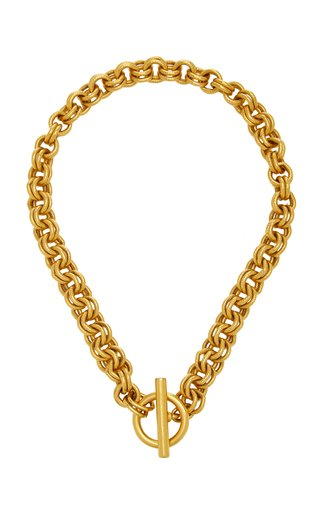 Gold-Plated Double-Link Chain Necklace