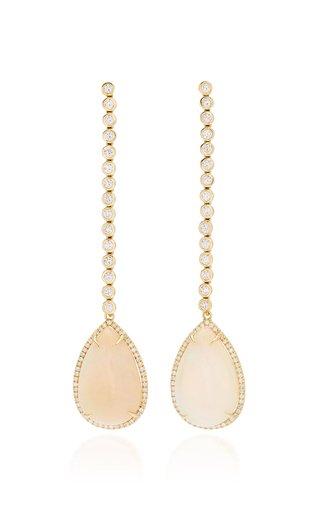 Kelly 18k Opal Diamond Drop Earrings