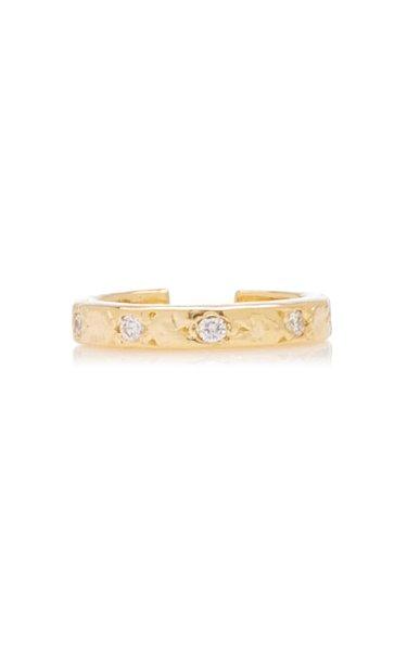 Etoile 18k Gold Diamond Ear Cuff