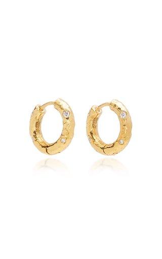 Gabby 18k Gold Diamond Petite Hoop Earrings