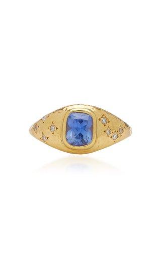 Imogen 18K Yellow Gold Sapphire, Diamond Ring