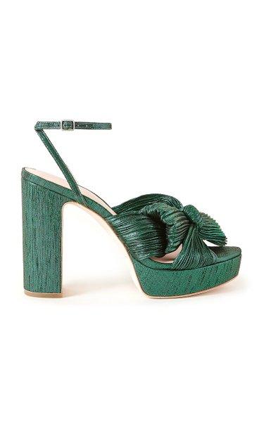 Natalia Pleated Nylon Platform Sandals