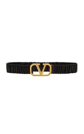 Valentino Garavani VLogo Elasticated Leather Belt