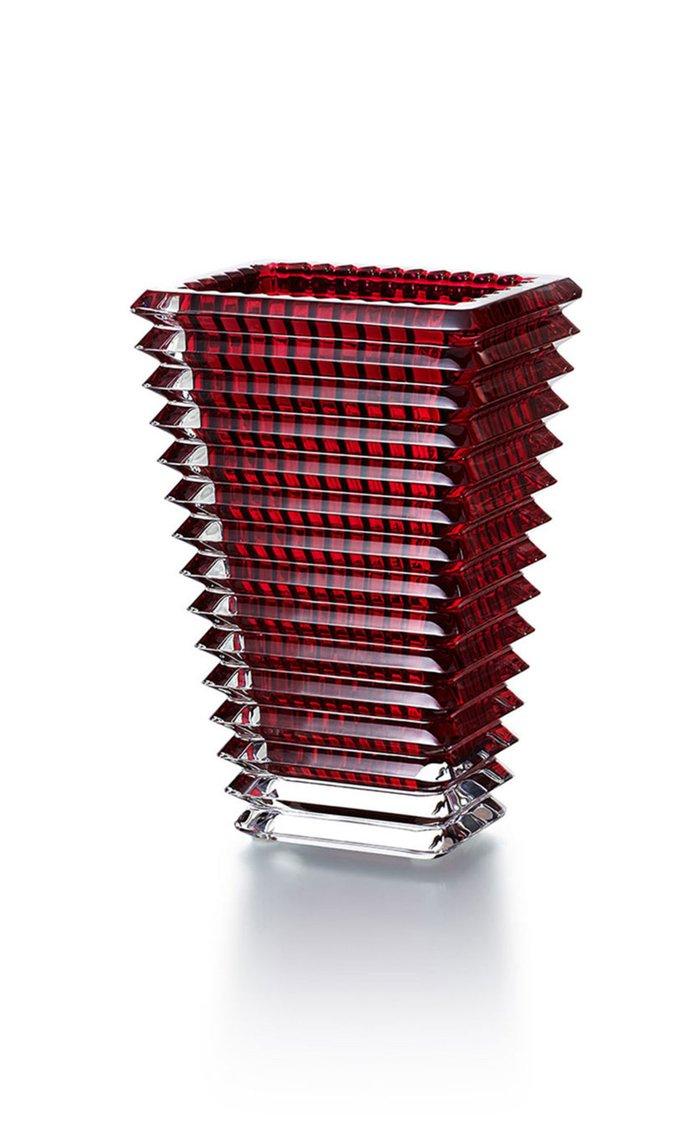 Eye Vase Small Rectangular Red