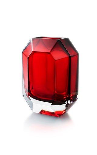 Octagone Vase Red