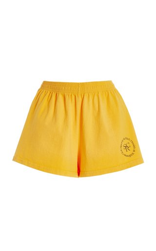 Logo-Print Cotton Jersey Disco Shorts