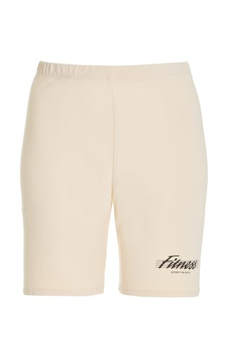 80s Fitness Cotton Jersey Bike Shorts