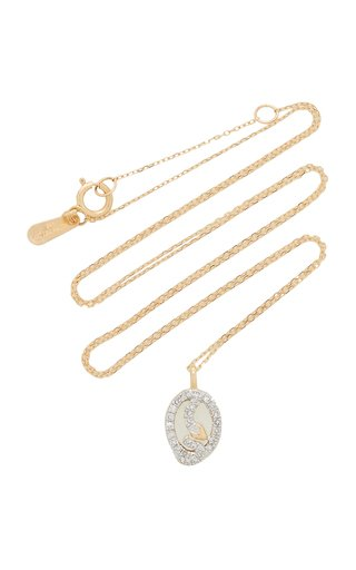 Snake 14K Yellow Gold, Sterling Silver Diamond Necklace